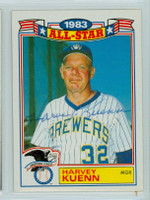 Harvey Kuenn AUTOGRAPH d.88 1984 Topps Brewers Glossy All-Star Insert 