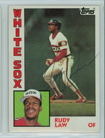 Rudy Law AUTOGRAPH 1984 Topps #47 White Sox 