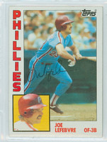 Joe Lefebvre AUTOGRAPH 1984 Topps #148 Phillies 