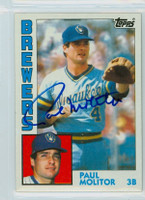 Paul Molitor AUTOGRAPH 1984 Topps #60 Brewers 