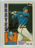 Gerald Perry AUTOGRAPH 1984 Topps #92 Braves TRADED   [SKU:PerrG6878_T84BBTRHjl]