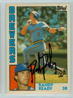 Randy Ready AUTOGRAPH 1984 Topps #97 Brewers TRADED 