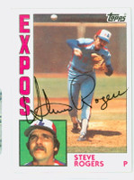 Steve Rogers AUTOGRAPH 1984 Topps #80 Expos   [SKU:RogeS1099_T84BB]