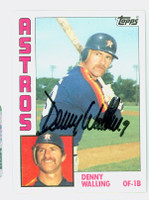 Denny Walling AUTOGRAPH 1984 Topps #36 Astros 