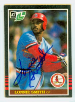 Lonnie Smith AUTOGRAPH 1985 Donruss #231 Cardinals LEAF CO 