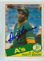 Dusty Baker AUTOGRAPH 1985 Topps #4 Athletics TRADED 
