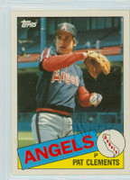 Pat Clements AUTOGRAPH 1985 Topps #23T Angels TRADED 