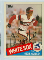 Ozzie Guillen AUTOGRAPH 1985 Topps #43T White Sox TRADED 