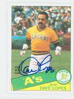 Dave Lopes AUTOGRAPH 1985 Topps #12 Athletics 