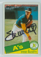 Steve Mccatty AUTOGRAPH 1985 Topps #63 Athletics 