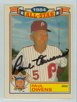 Paul Owens AUTOGRAPH d.03 1985 Topps #92 Phillies Glossy All-Star Insert 