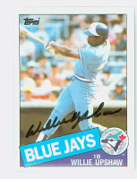 Willie Upshaw AUTOGRAPH 1985 Topps #75 Blue Jays 