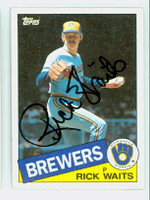 Rick Waits AUTOGRAPH 1985 Topps #59 Brewers 