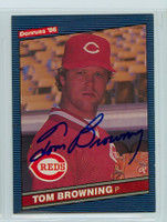 Tom Browning AUTOGRAPH 1986 Donruss #384 Reds 