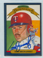 Tom Brunansky AUTOGRAPH 1986 Donruss #24 Twins Diamond King 