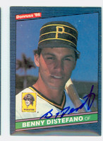 Benny Distefano AUTOGRAPH 1986 Donruss #78 Pirates 