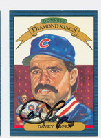 Dave Lopes AUTOGRAPH 1986 Donruss #9 Cubs Diamond King 