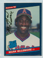 Mark McLemore AUTOGRAPH 1986 Donruss #35 Angels ROOKIE 