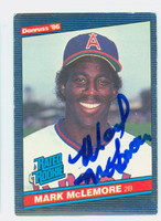 Mark McLemore AUTOGRAPH 1986 Donruss #35 Angels 