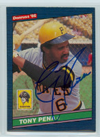 Tony Pena AUTOGRAPH 1986 Donruss #64 Pirates 