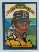 Johnny Ray AUTOGRAPH 1986 Donruss #19 Pirates Diamond King 