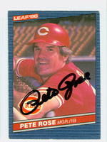 Pete Rose AUTOGRAPH 1986 Leaf Reds 