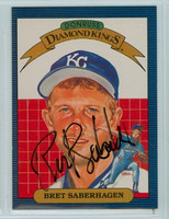 Bret Saberhagen AUTOGRAPH 1986 Donruss #11 Royals Diamond King 