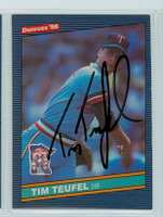 Tim Teufel AUTOGRAPH 1986 Donruss #242 Twins 