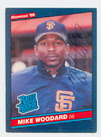 Mike Woodard AUTOGRAPH 1986 Donruss #46 Giants 