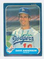 Dave Anderson AUTOGRAPH 1986 Fleer Dodgers 