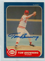Tom Browning AUTOGRAPH 1986 Fleer #173 Reds 