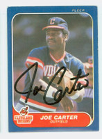 Joe Carter AUTOGRAPH 1986 Fleer Indians 