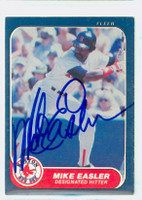 Mike Easler AUTOGRAPH 1986 Fleer Red Sox 