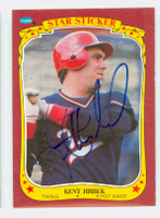 Kent Hrbek AUTOGRAPH 1986 Fleer Twins Star Sticker 