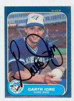 Garth Iorg AUTOGRAPH 1986 Fleer Blue Jays 