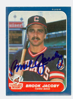 Brook Jacoby AUTOGRAPH 1986 Fleer Indians 