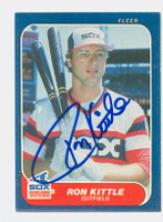 Ron Kittle AUTOGRAPH 1986 Fleer White Sox 
