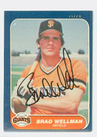 Brad Wellman AUTOGRAPH 1986 Fleer Giants 