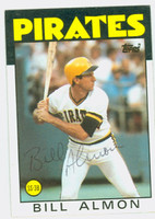 Bill Almon AUTOGRAPH 1986 Topps Pirates 