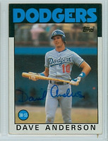 Dave Anderson AUTOGRAPH 1986 Topps #758 Dodgers 