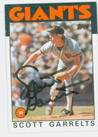 Scott Garrelts AUTOGRAPH 1986 Topps #395 Giants 
