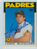 Lance McCullers AUTOGRAPH 1986 Topps #44 Padres   [SKU:McCuL9278_T86BBpl]