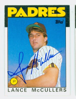 Lance McCullers AUTOGRAPH 1986 Topps #44 Padres   [SKU:McCuL9278_T86BB]