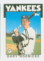 Gary Roenicke AUTOGRAPH 1986 Topps Yankees TRADED   [SKU:RoenG6929_T86BBTRNYjl]