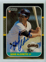 Mike Aldrete AUTOGRAPH 1987 Donruss Giants 