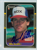 Neil Allen AUTOGRAPH 1987 Donruss White Sox 