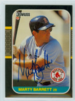 Marty Barrett AUTOGRAPH 1987 Donruss Red Sox 