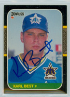 Karl Best AUTOGRAPH 1987 Donruss Mariners 