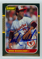 Mike Boddicker AUTOGRAPH 1987 Donruss Orioles LEAF 