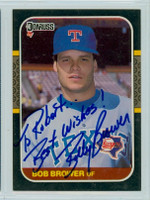 Bob Brower AUTOGRAPH 1987 Donruss Rangers  PERS